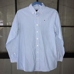 "Vineyard Vines classic blue gingham ""whale shirt"""